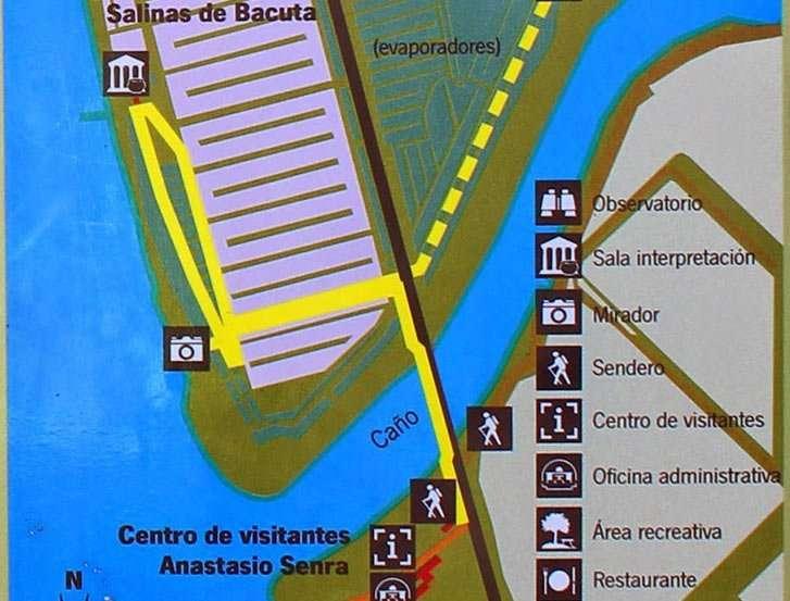 Mapa sendero Salinas de Bacuta