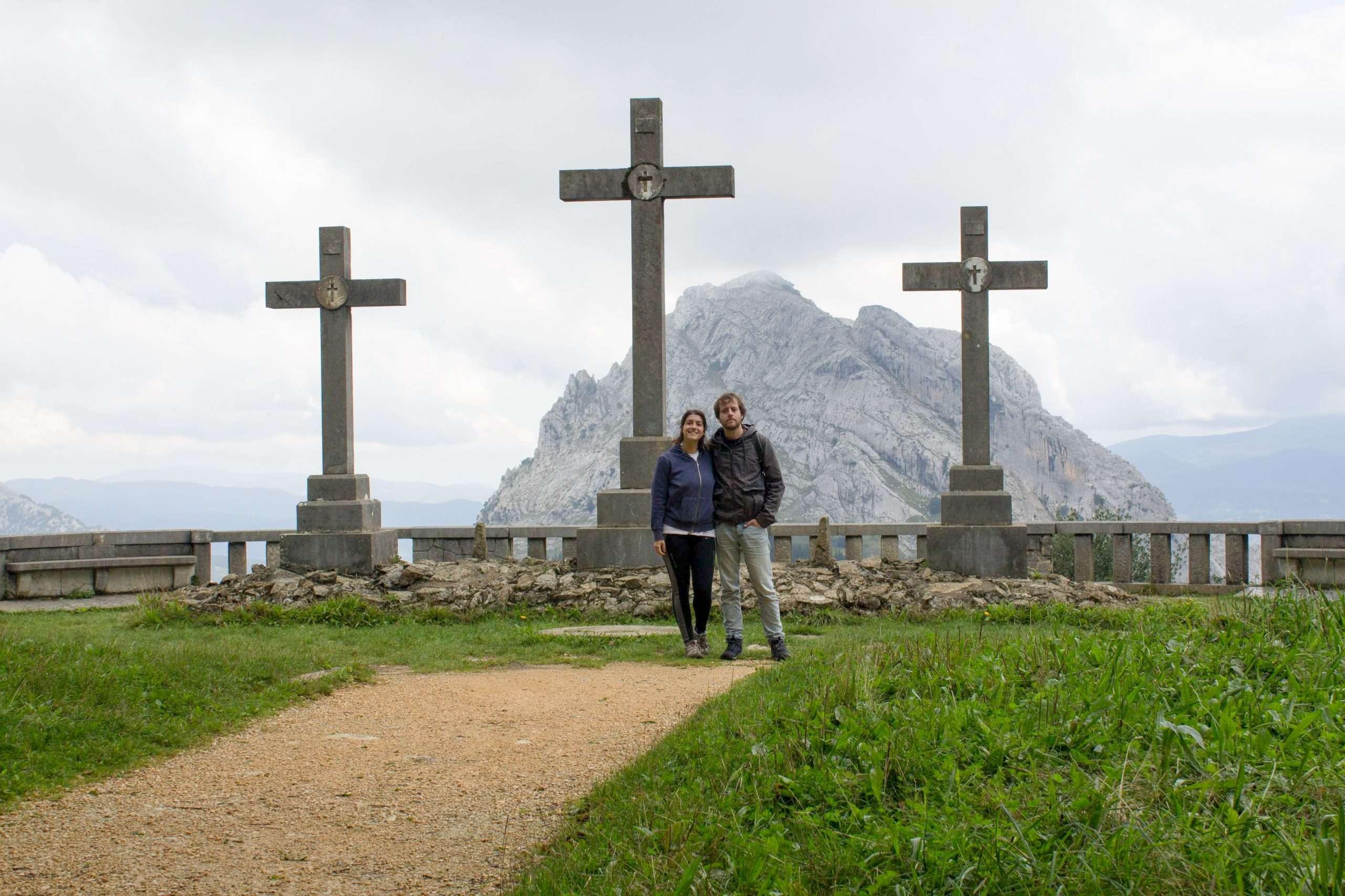 cruces en el parque natural de urkiola
